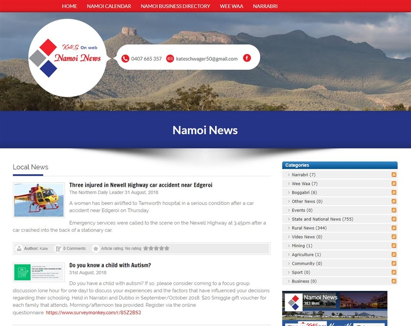 Namoi News Website